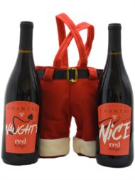 Naughty & Nice Red with Santa Pants Carrier | Item No. 393748