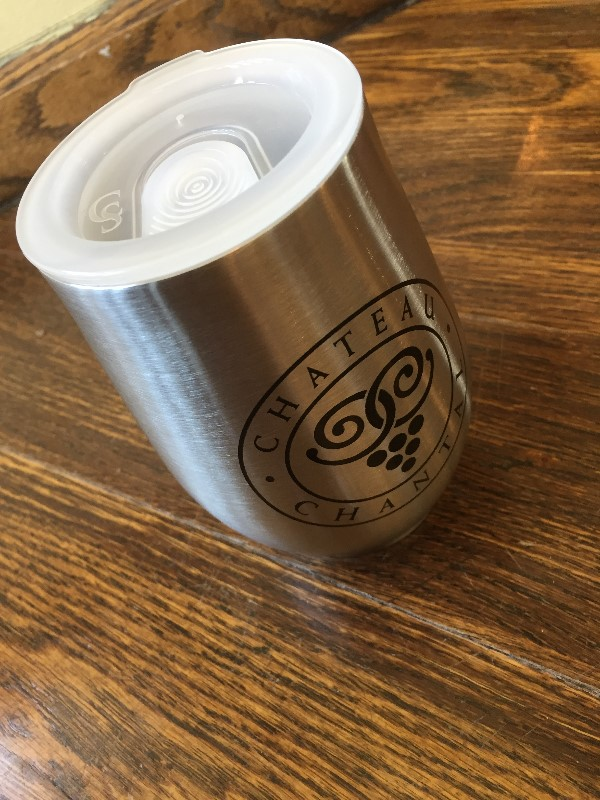 10 oz double wall, clear lid